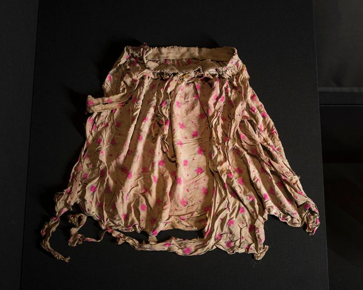 Tomie Yamane, 4, was living with her grandparents and dressed in this skirt when the bomb ...