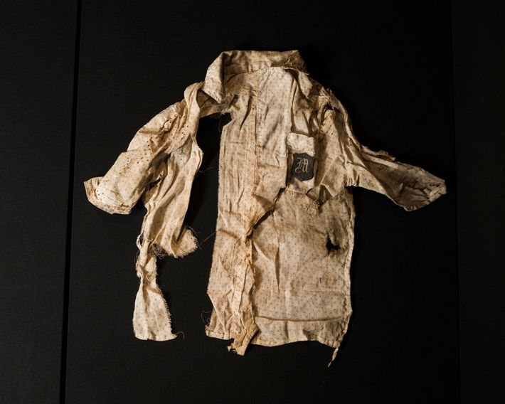 Toshiko Omoto, 17, was wearing this blouse when the bomb exploded. When her father found her ...