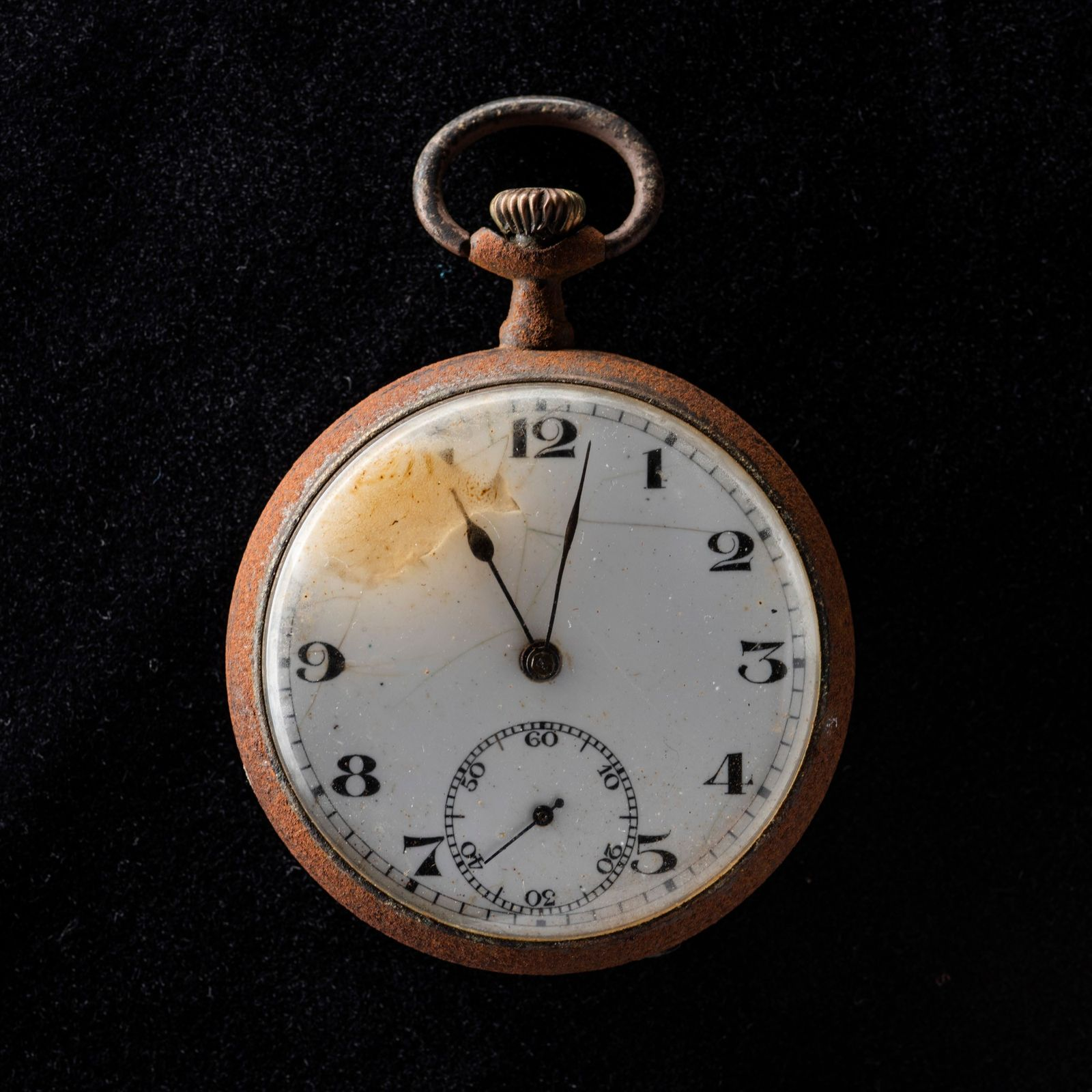 The hands on this pocket watch recovered from Nagasaki are frozen at 11:02 A.M.—the moment the ...