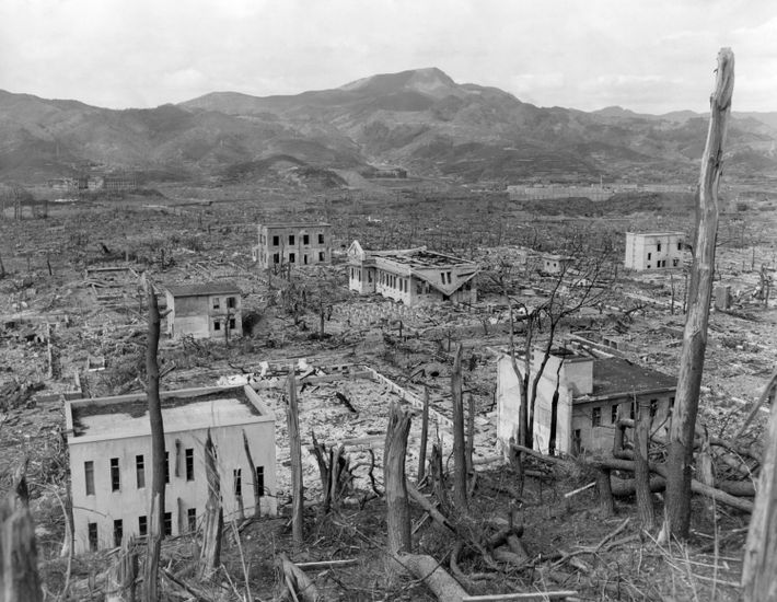 """Fat Man"" leveled much of Nagasaki's residential wooden buildings, leaving only a few of the city's ..."
