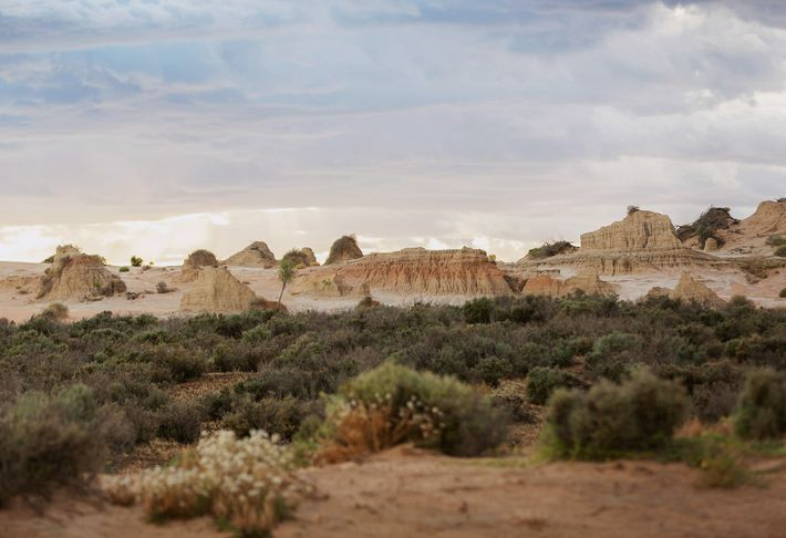 The Walls of China, a series of sand dunes in Mungo National Park.