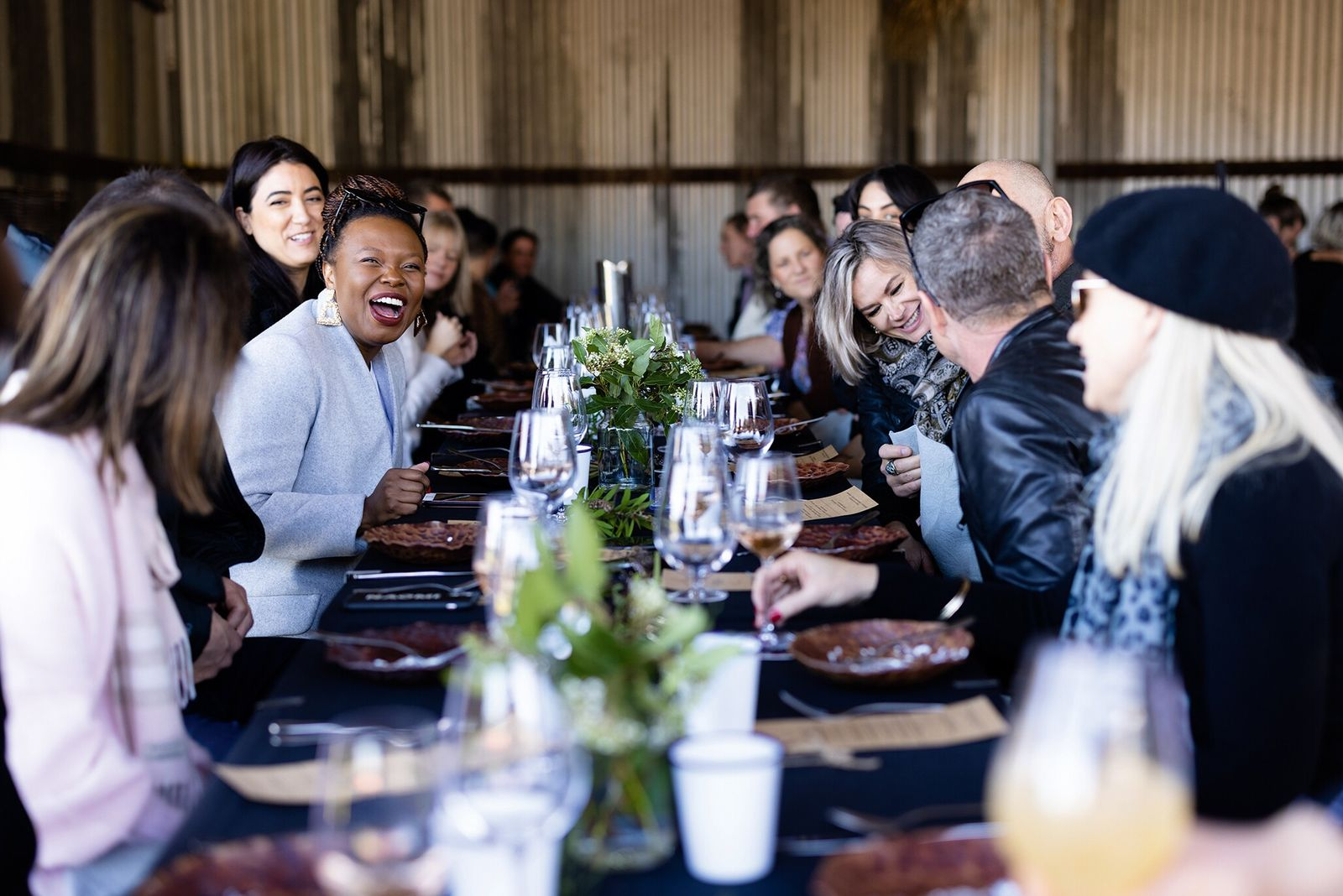 Fervor's long-table lunch in the farm shed at Black Solitaire Truffles.