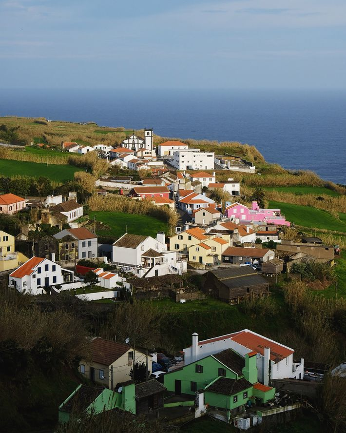 The morning sun illuminates a rural town on São Miguel Island. Before the pandemic, Azorean tourism ...