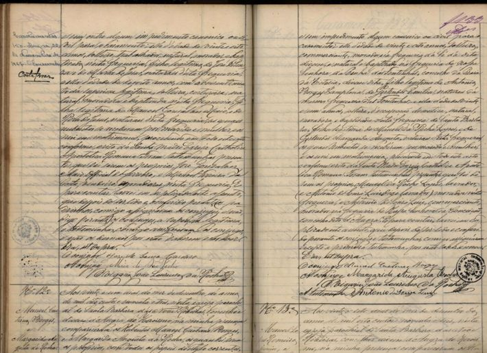 Starting on the lower left-hand page, this document records the December 21, 1893, marriage of the ...