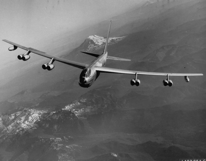 As part of the Cold War-era Operation Chrome Dome, U.S. Air Force B-52 bombers flew globe-spanning ...