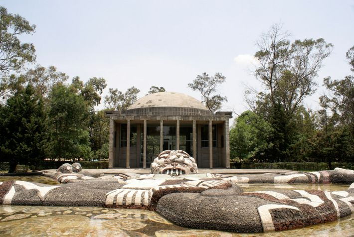 The Fuente de Tlaloc by Diego Rivera in the Second Section of Chapultepec Park, Mexico City, ...