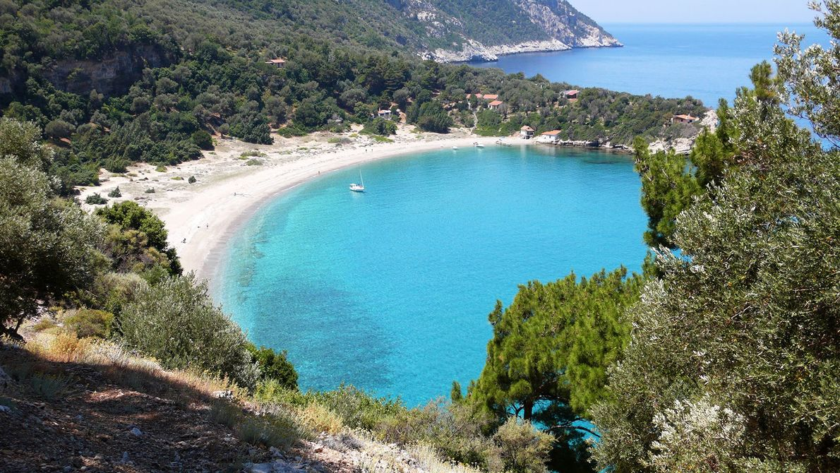Widely considered the best beach in Samos, Seitani is a beautiful spot on the north coast, ...