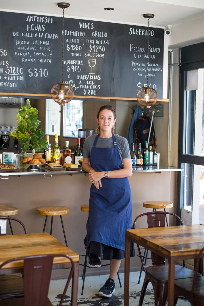 Owner Julieta Oriolo at La Alacena, in the lively Palermo Soho area.