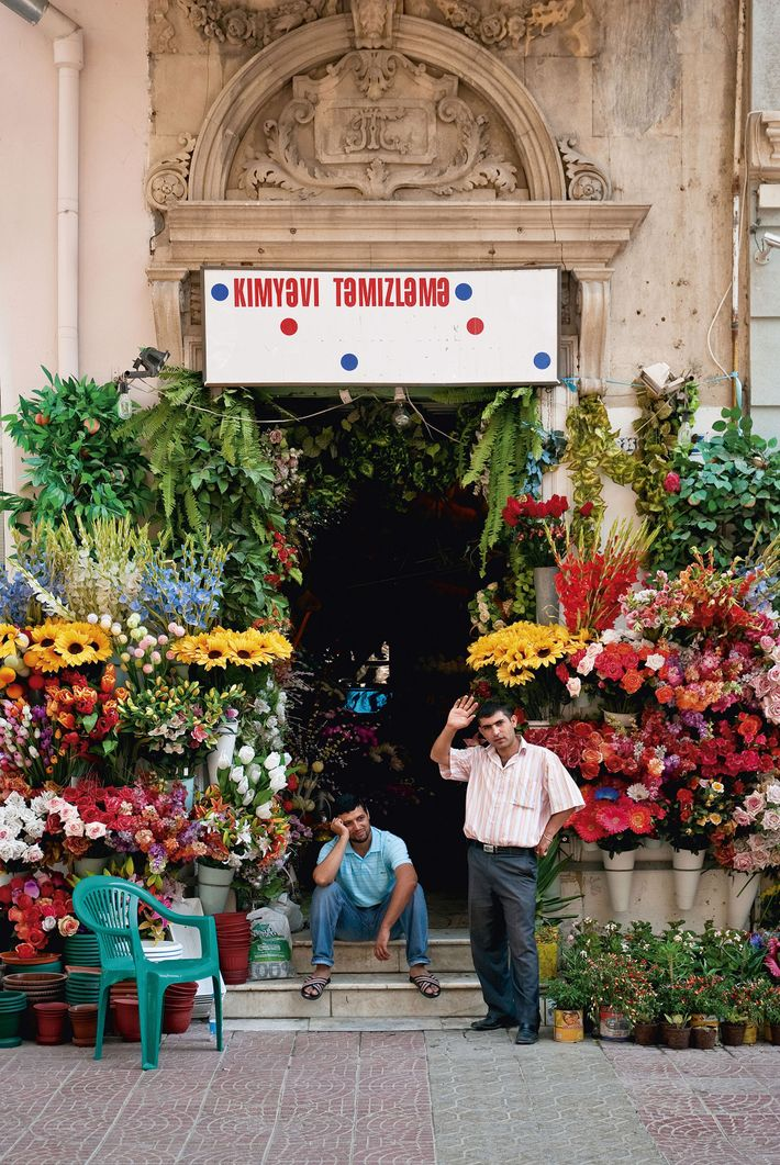 Flower shop  near Khagani Park, central Baku