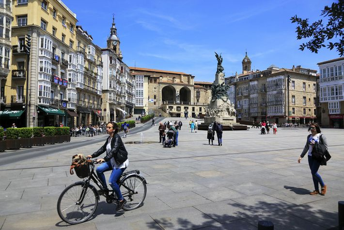 The Basque capital, Vitoria-Gasteiz, is bike-friendly, with lots of cycle paths crisscrossing the city.
