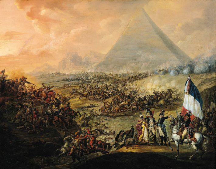 The battle between the French army and local Mamluk troops, on July 21, 1798, took place ...