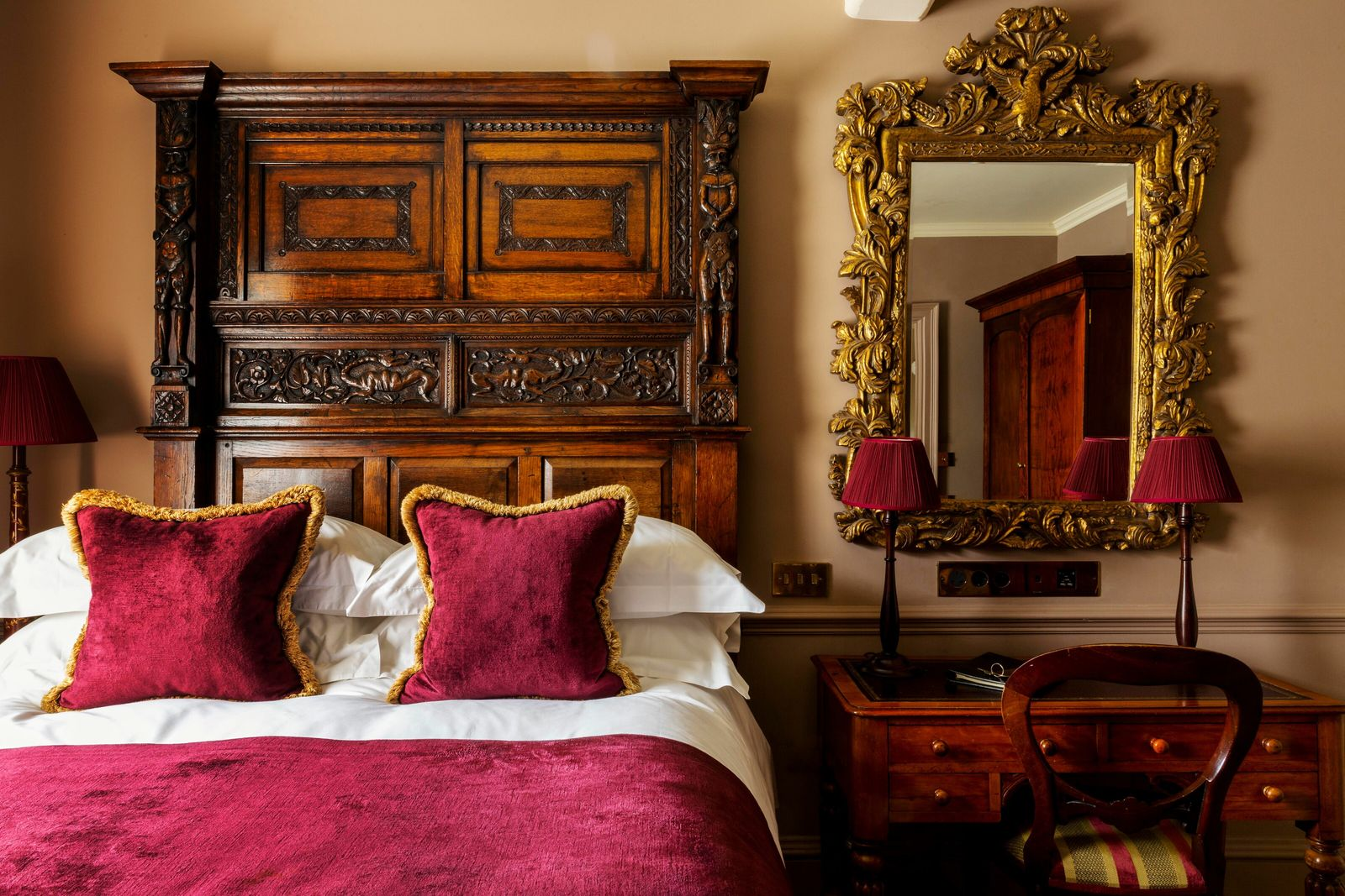Lavish, decadent interiors set the tone at Batty Langley's, named after the 18th-century writer and eccentric.