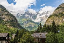 View from Entrèves: Courmayeur is not the Italy you may be familiar with. For starters, there's ...