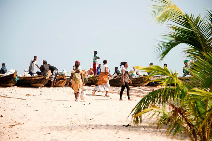 Kokrobite Beach in Ghana is a well-known party spot.