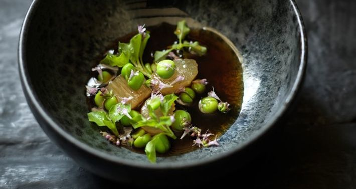 Beef tendon at L'Enclume