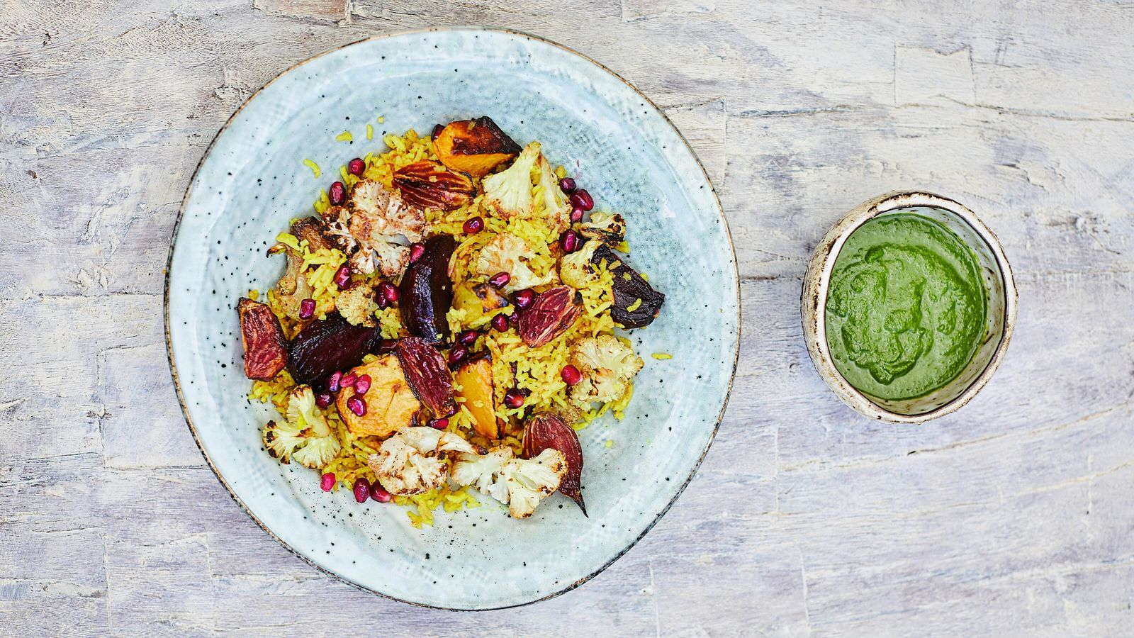 Meera Sodha's winter pilau is packed with beetroot, cauliflower, swede and spices.