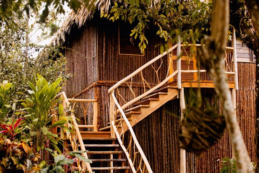 Staircase leading up to a Gaia cabana. Image: Gaia