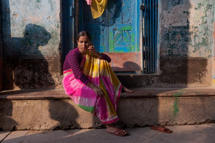 Shiuli, a 27-year-old sex worker, arranges to meet a client in the Kalighat red-light district of ...