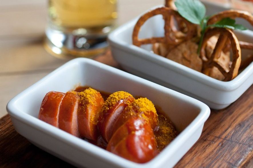 Currywurst and other local snacks. Image: Jael Marschner