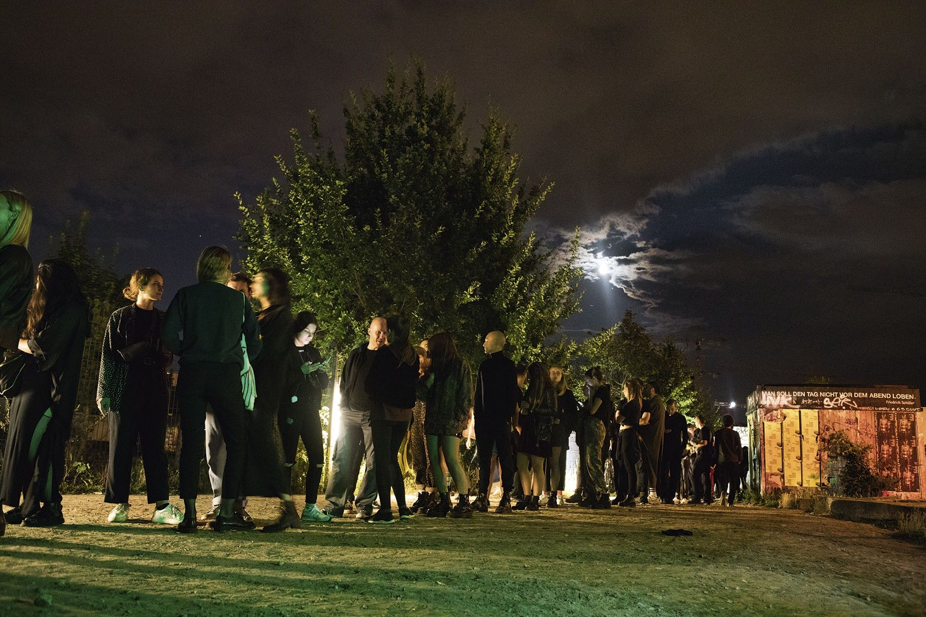 Clubbers queue outside Berghain