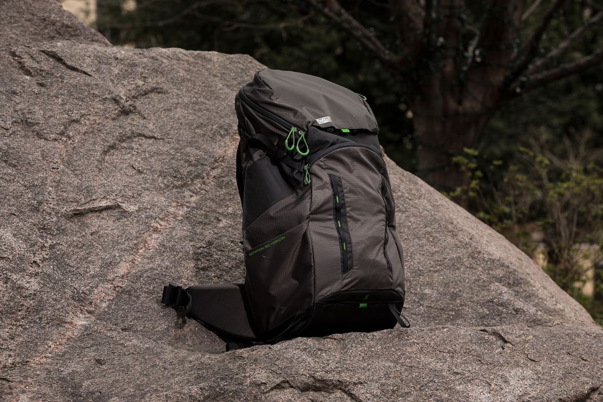 The rotation180° Horizon 34L is quite unique. It appears to be a normal hiking pack, but …