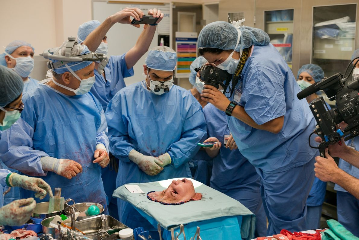 """CLEVELAND, Ohio """"Reverence,"""" photographer Lynn Johnson says, remembering the moment when she and medical staff crowded around ..."""