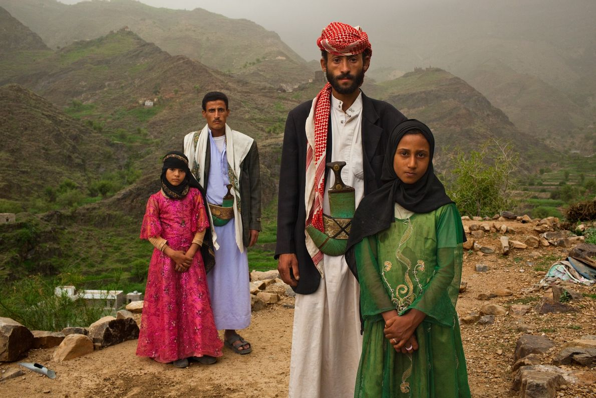 HAJJAH, Yemen. The men looming over these Yemeni girls are not their fathers. For her internationally acclaimed ...