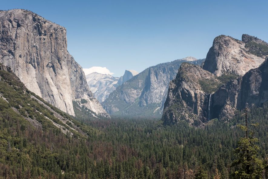 Iconic views—like this vista of Bridal Veil Falls—make Yosemite one of America's most beloved national parks.