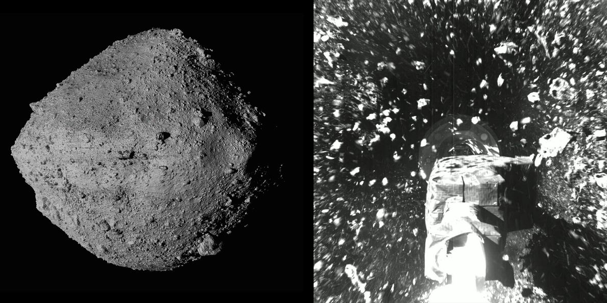 In an ambitious game of galactic tag, NASA's OSIRIS-REx spacecraft reached out and touched the asteroid ...