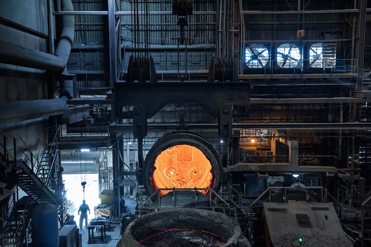 The furnaces at SSAB America's steel mill in Montpelier, Iowa, are electric and by 2022, the ...