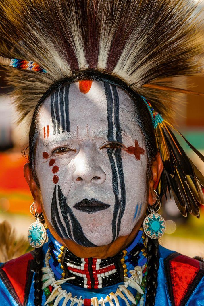 Traditional Zuni regalia, New Mexico.
