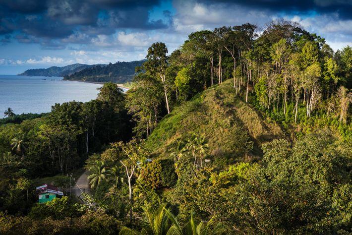 A view over Drake Bay, near Corcovado National Park, Costa Rica.