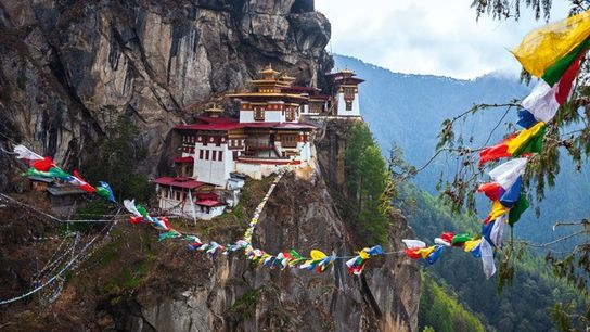 Tiger's Nest, a sacred Buddhist monastery, Paro
