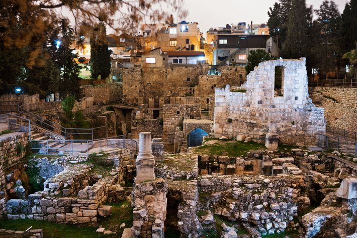 In Jerusalem, Jesus healed a paralysed man at a ritual pool surrounded by five colonnades called ...