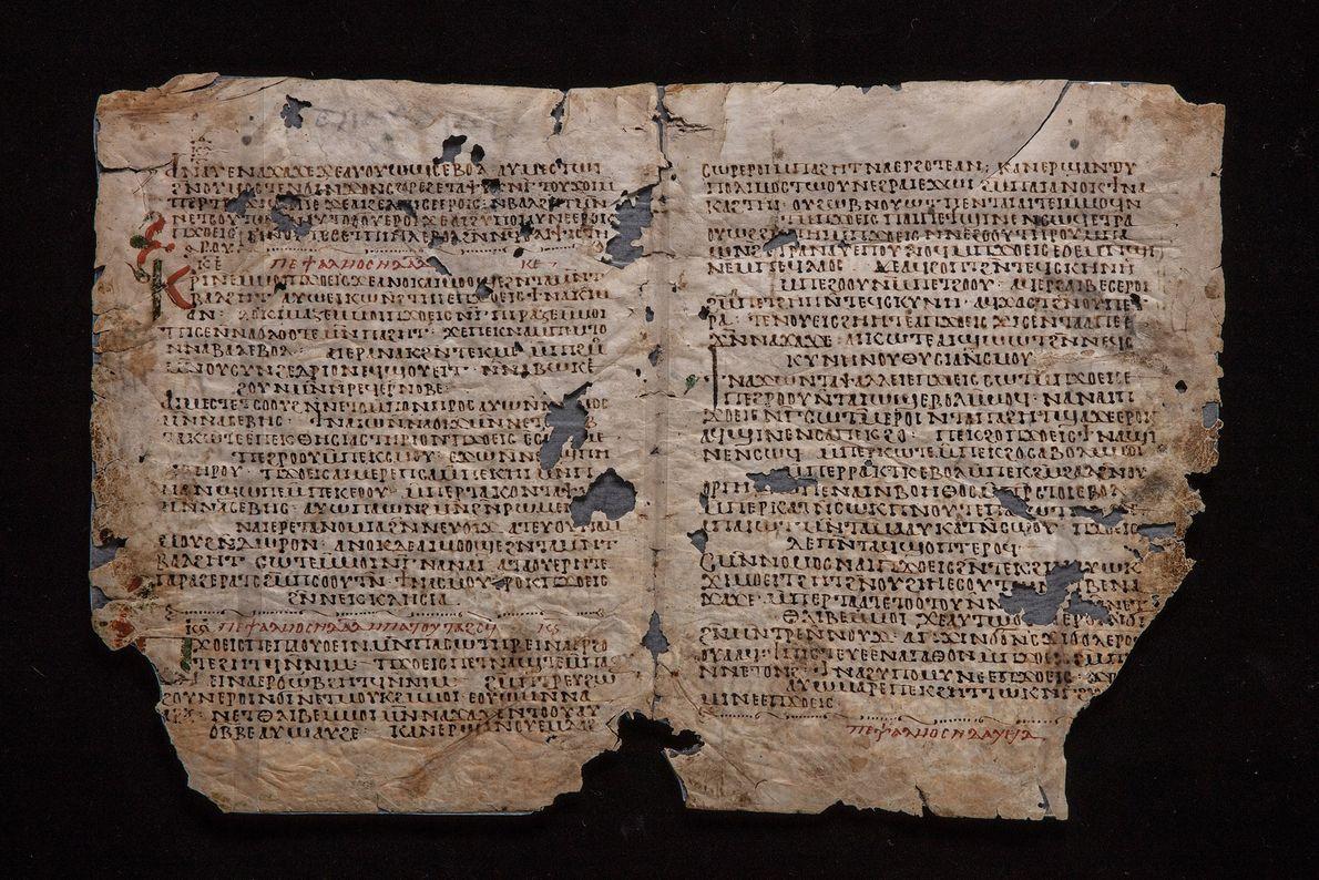 Ninth-century Coptic Psalter (book of Psalms).