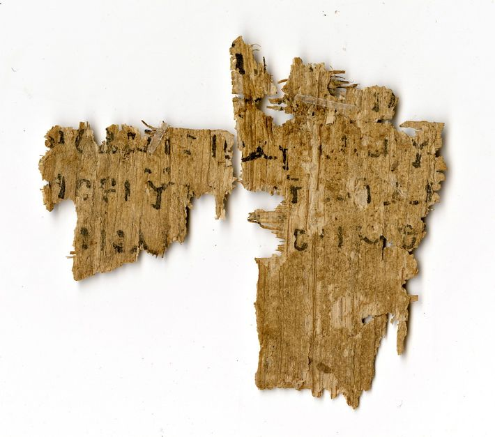 This fragment from the Gospel of Mark was rumored to be the only surviving Christian text ...