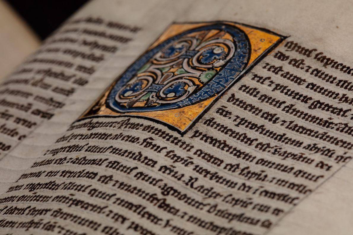 Illuminated Morris-Cockerell Latin manuscript from 1225.