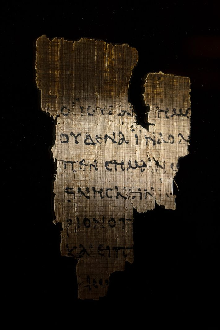 Copied in Egypt and dated as early as the second century A.D., this papyrus fragment is ...