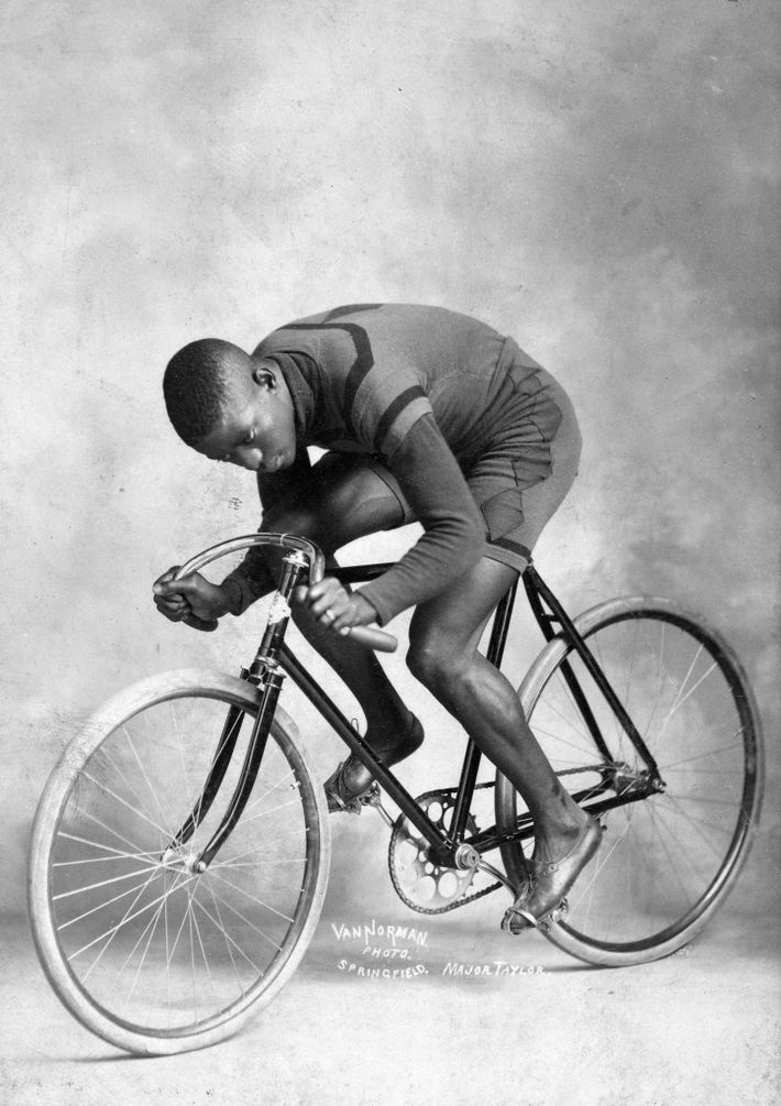 """Cycling's first superstar, American Marshall Walter """"Major"""" Taylor turned professional as a teenager in 1896 and ..."""