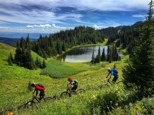 Sun Peaks Resort operates a lift-accessed mountain biking park.