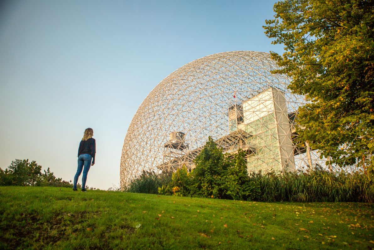 The Biosphere Museum at Parc Jean-Drapeau, with its modern design and signature geodesic dome, is dedicated ...
