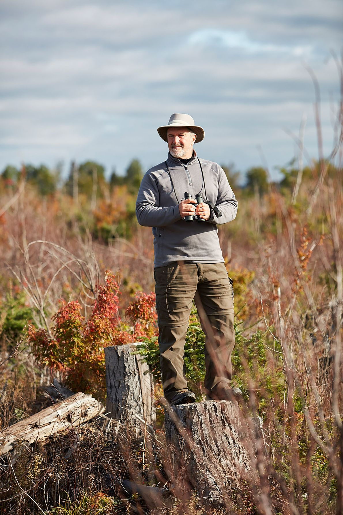 A portrait of Alain Clavette, one of Canada's premier bird watchers.