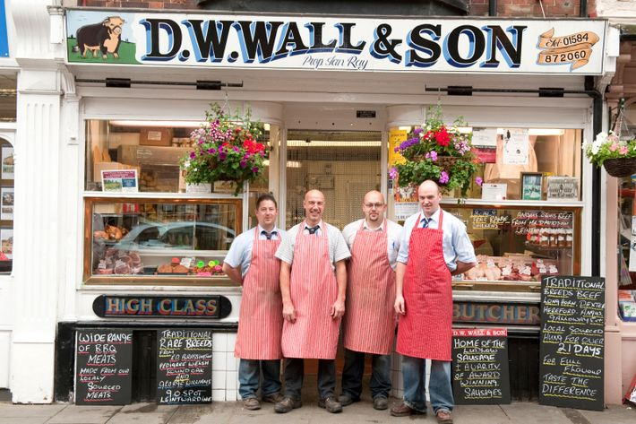 At the butcher D. W. Wall & Son, meat is sourced from trusted nearby farmers and ...