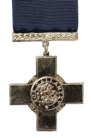 The George Cross, the highest civilian award 'for gallantry.' The most recent recipient of the award in ...
