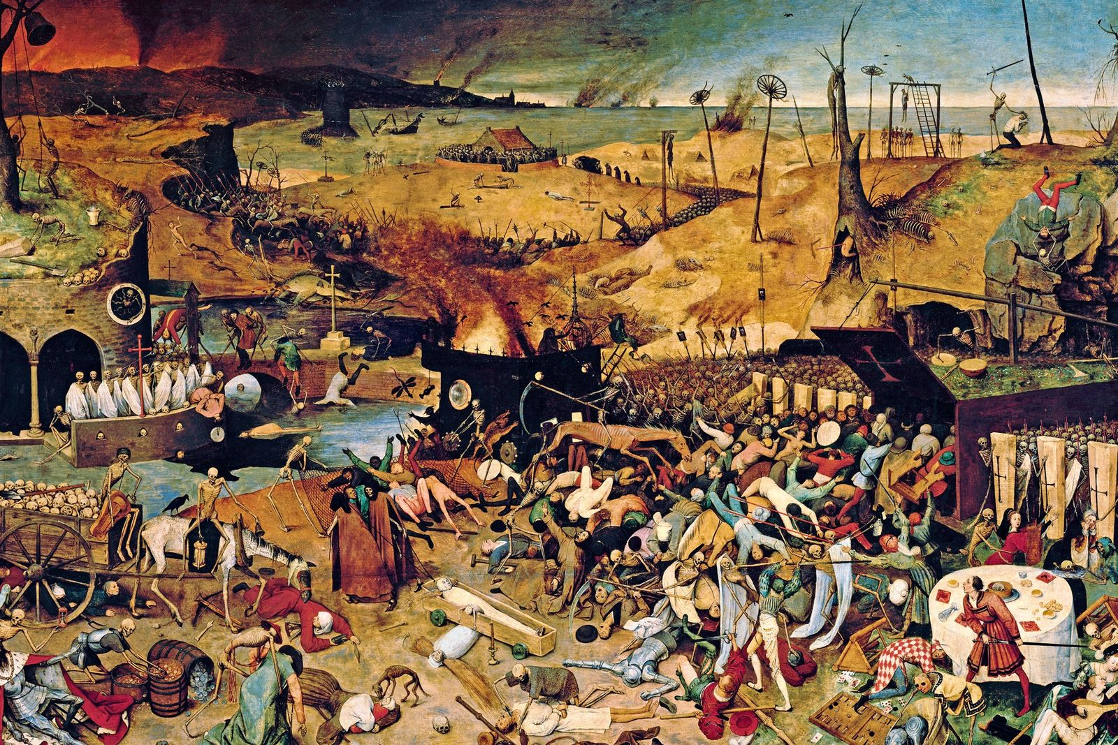 "This 1562 painting, ""The Triumph of Death,"" by Pieter Bruegel the Elder, illustrates the deep impression ..."