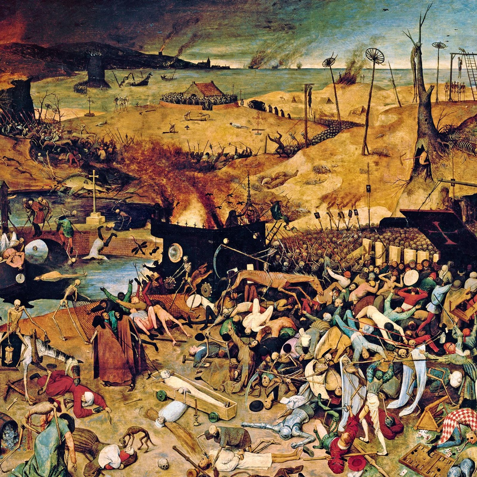 """This 1562 painting, """"The Triumph of Death,"""" by Pieter Bruegel the Elder, illustrates the deep impression ..."""