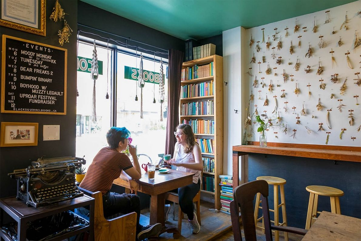 Black Squirrel Used Books and Coffee shop is a great place to browse for books or ...