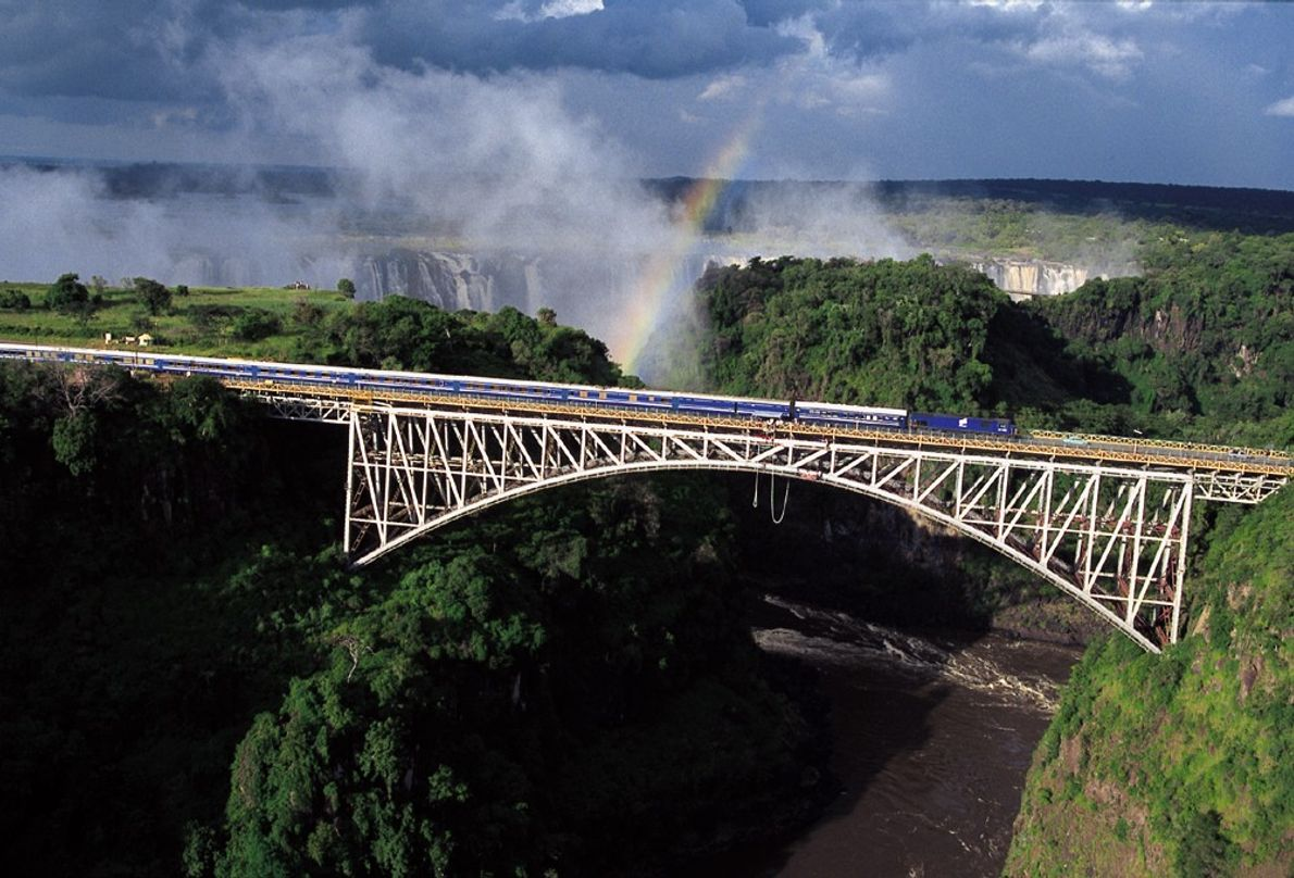 The overnight Blue Train from Pretoria to Cape Town showcases South African scenery and includes a ...