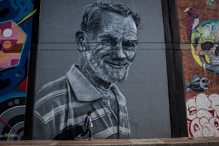 """Large-scale artwork in the """"Graffiti District"""" hopes to encourage responsible graffiti practice on city walls while ..."""