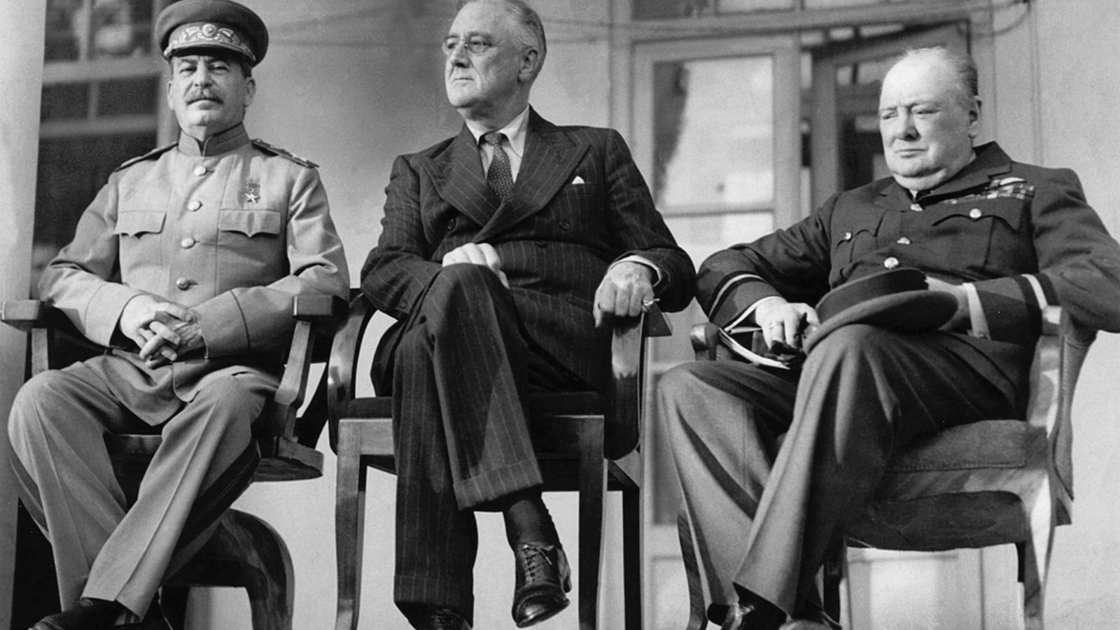 Joseph Stalin, Franklin Roosevelt, and Winston Churchill gathered in Tehran in 1943 to plan their strategy ...